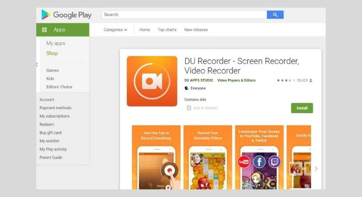 DU Recorder on Play Store